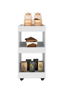 Armário Multiuso Para Cozinha Seul Com Rodízios L03 Branco - Mpozenato