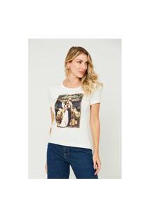 T-Shirt Feminina Juliet And Romeu Branca