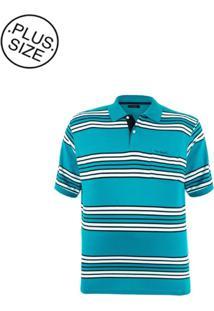 Polo Plus Size Blue Stripes