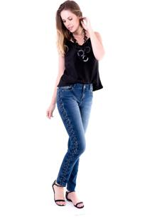 Blusa Gup'S Jeans Satim Preta