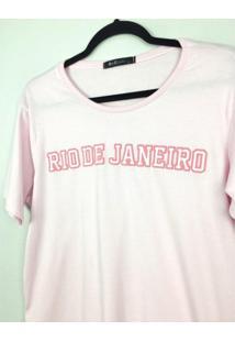 T-Shirt Boyfriend Rio De Janeiro - Multicolorido - Dafiti