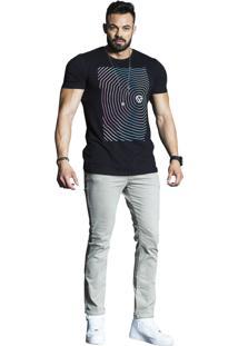 Camiseta Wolke Gola Careca Preto