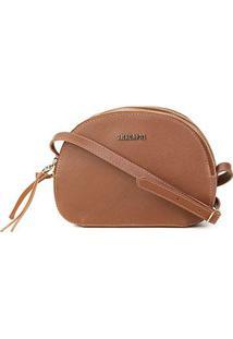 Bolsa Anacapr Mini Bagi Med New Saffi Ac Feminina - Feminino-Marrom