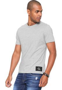Camiseta Calvin Klein Jeans Ckj Etiqueta Cinza