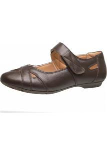 Sapatilha Doctor Shoes Couro 1298 Café