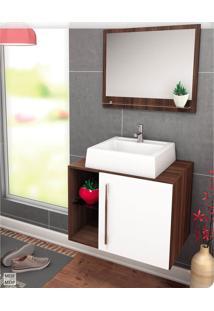 Gabinete Para Banheiro Suspenso E Moderno Castaine E Branco