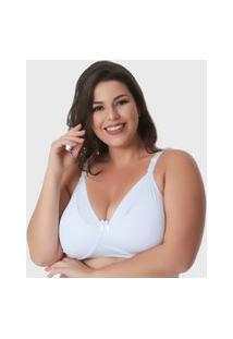 Sutiã Plus Size Mademoiselle Amamentação, Branco, Micro Fibra
