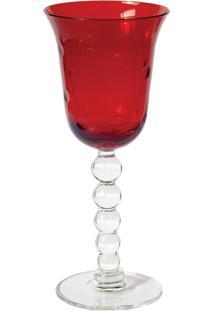 Taças Para Vinho Em Vidro Vermelha 270 Ml 6 Peças