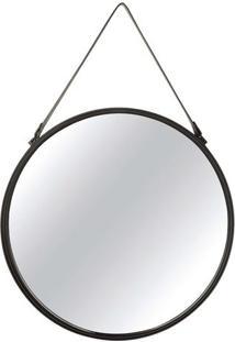 Espelho Arredondado- Espelhado & Preto- 95Xã˜65X3Cm