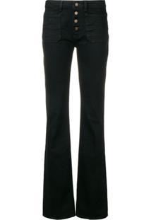Saint Laurent Bootcut Slim Jeans - Preto