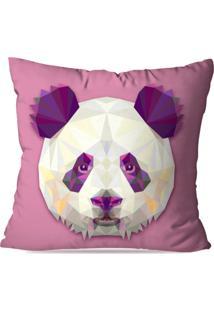 Capa De Almofada Avulsa Decorativa Panda Geométrico