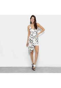 Vestidos Lança Perfume Curto Assimétrico - Feminino-Estampado