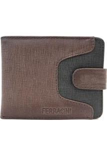 Carteira Ferracini Jeans Petroleo/Jeans Preto Uni C