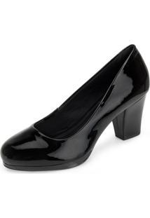 Sapato Verniz Sense Flex An20-0718 Preto
