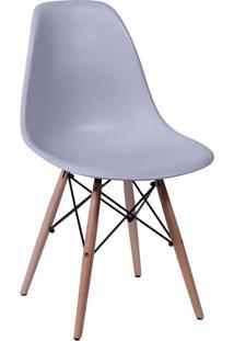 Cadeira Em Mdp/Mdf Base Escura 1102-Or Design - Cinza
