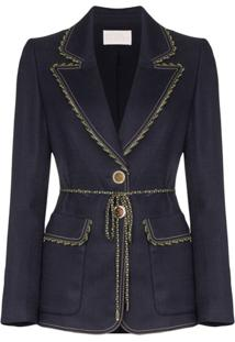 Peter Pilotto Blazer Com Stretch - Azul