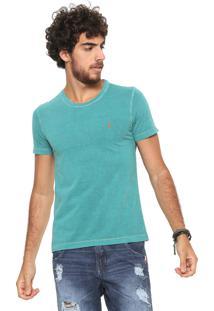 Camiseta Sergio K Dupla Face Floral Verde