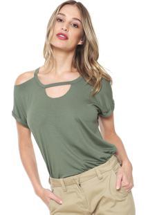 Camiseta Mob Off Shoulders Verde