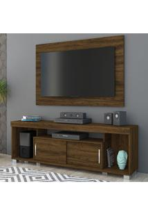 Rack Com Painel Para Tv 2 Portas Pierre 704024 Savana - Madetec