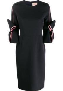 Roksanda Vestido Com Laço - Preto