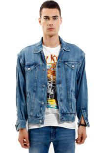 Jaqueta John John Bonn Jeans Azul Masculina (Jeans Medio, G)