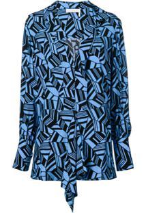 Chloé Blusa Estampada - Azul