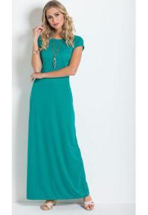 Vestido verde turquesa escuro