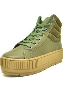 Tênis Cano Alto Verde Militar Dani K