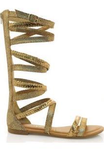 Sandália Dakota Gladiadora Feminina - Feminino-Dourado