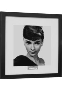 Quadro Contemporâneo Cinemania Audrey 34 X34 Cm Preto