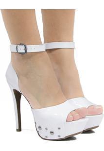 Sandália Zariff Shoes Salto Fino Branco