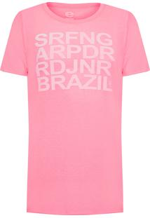 Camiseta Masculina Light Pet Surfing - Rosa