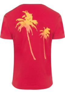 Camiseta Masculina Big Coqueiros - Vermelho