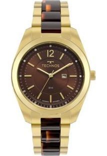 Relógio Technos Fashion Trend 2015Ccy/4M 40Mm Aço Bicolor Feminino - Feminino-Dourado