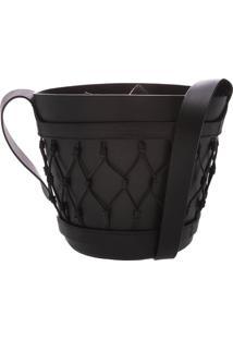 Vase Bag Couro Black | Schutz