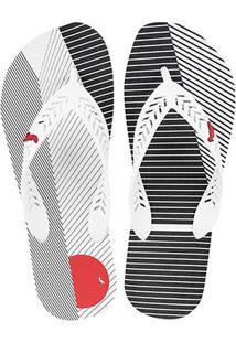 Chinelo Reserva Dedo Borracha Rsv1242 Masculino - Masculino-Branco