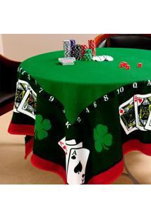 Toalha De Mesa Quadrada Jocker Verde (155X155)