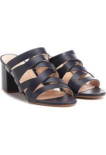 77b8fab69 R$ 59,90. Zattini Tamanco Couro Shoestock Salto Grosso Tiras ...