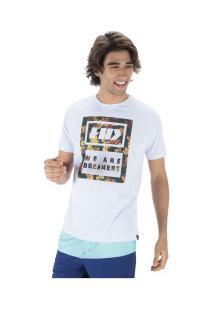 Camiseta Hd Estampada Camo Lea - Masculina - Branco
