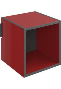 Nicho Quadrado Decorativo Lyam Decor Mov Vermelho