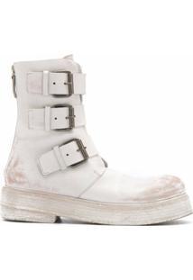 Marsèll Ankle Boot Com Detalhe De Fivela - Branco