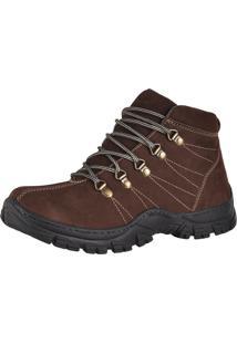 Bota Adventure Couro Nobuck Difranca Boots - 1011 - Cafe