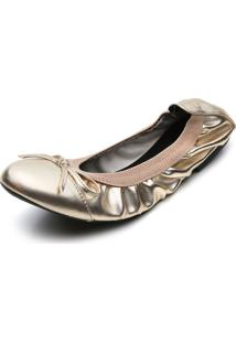 Sapatilha Fiveblu Metalizada Dourada
