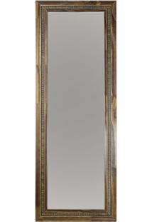 Espelho Emoldurado Em Mdf 44X122Cm Madeira Ouro