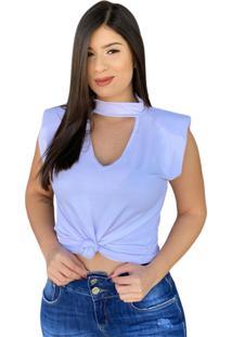 Blusa Muscle Tee Decote V Branca - Branco - Feminino - Dafiti