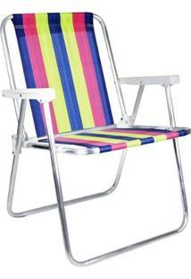 Cadeira De Praia Mor 2002 Dobrável 4 Posições - Unissex