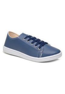 Tênis Casual Feminino Mr Try Shoes Sapatênis Leve Azul Marinho