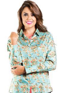 Camisa Carlos Brusman Slim Floral Pequeno