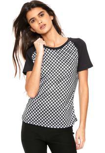 Camiseta Fiveblu Xadrez Race Preta/Branca