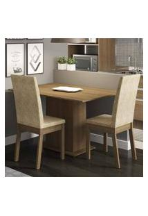 Conjunto Sala De Jantar Madesa Dai Mesa Tampo De Madeira Com 2 Cadeiras Rustic/Imperial